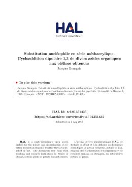Substitution nucléophile en série méthacrylique - Tel
