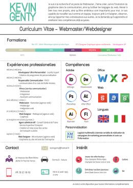Curriculum Vitae - Webmaster/Webdesigner