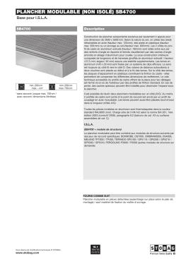 Plancher modulable (non isolé) sb4700
