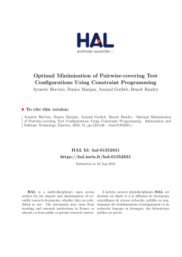 Optimal Minimisation of Pairwise-covering Test