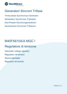 Generatori Sincroni Trifase M40FA610A/A MGC I