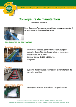 Convoyeurs de manutention