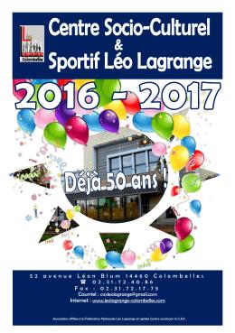 Plaquette 2016-2017