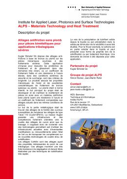 F+E Institut, Berner Fachhochschule - Technik und