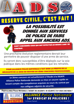 reserve civile, c`est fait - Alliance Police Nationale