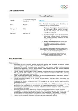 job description - Olympic.org Registration