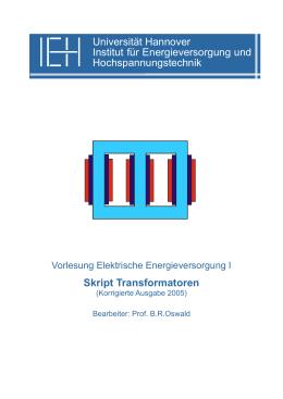 Transformatoren - Fachgebiet Elektrische Energieversorgung