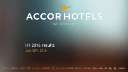 First-half 2016 results - Presentation  - AccorHotels