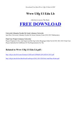 WWW ULFG UL EDU LB   Free PDF Book