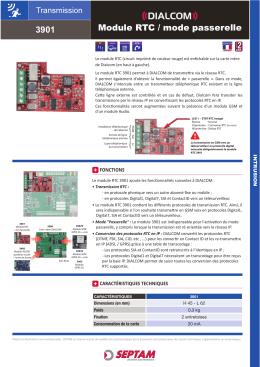 Module RTC / mode passerelle 3901