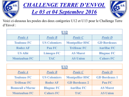 poules categories u12 et u13