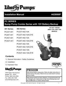 Installation Manual 4428000F PC SERIES Sump