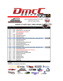 august 27 août 2016 | dmcc round 7