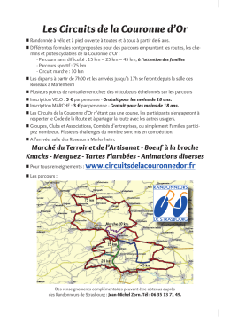 Les Circuits de la Couronne d`Or
