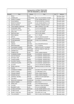 Liste engagés au 28-07-2016