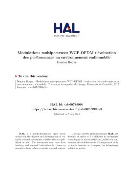 Modulations multiporteuses WCP-OFDM : évaluation des - Tel