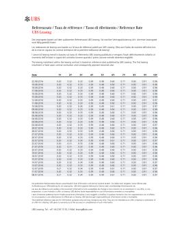 Page 1 Referenzsatz / Taux de référence / Tasso di riferimento