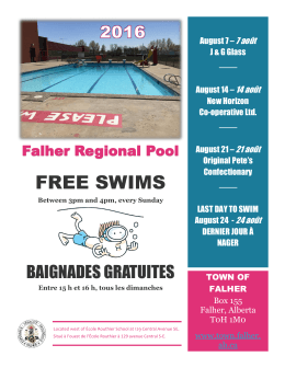 free swims - Town of Falher