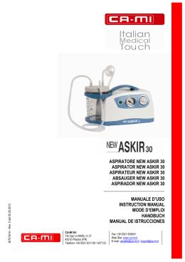 manuale istruzioni new askir 30