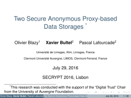 Two Secure Anonymous Proxy-based Data