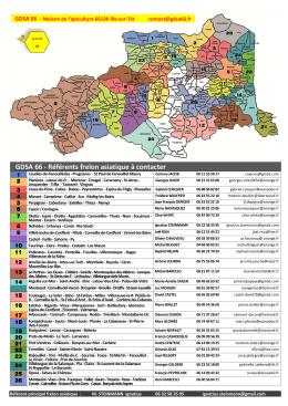Carte départementale des Référents par commune