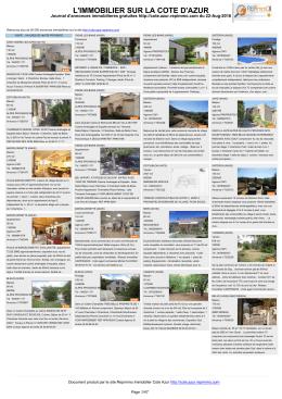 journal des annonces immobilieres de la cote d`azur