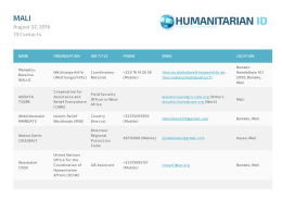 Humanitarian ID - HumanitarianResponse
