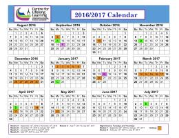 2016/2017 Calendar