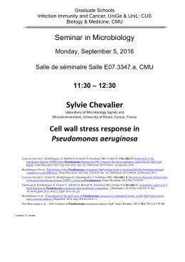 11:30 – 12:30 Sylvie Chevalier