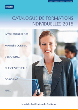 le catalogue complet des formations 2016