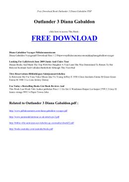 OUTLANDER 3 DIANA GABALDON   Free Book PDF