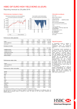 hsbc gif euro high yield bond (a) (eur)