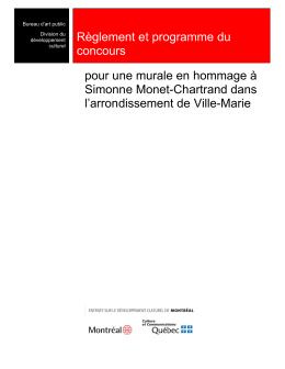 Règlement et programme du concours Simonne Monet