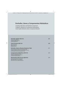 Enchufes, Llaves y Componentes Hidráulicos