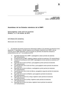 Asambleas de los Estados miembros de la OMPI