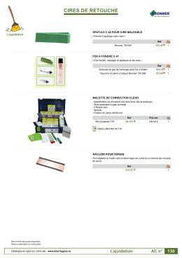 AC130 - Cire de retouche et accessoires