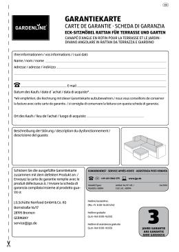 garantiekarte - ALDI SUISSE AG