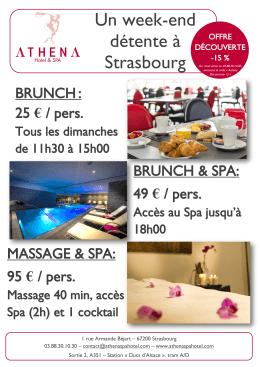 L`offre Brunch du dimanche - Hotel Design Strasbourg | Athena Spa