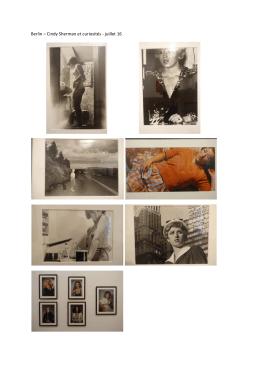 Cindy Sherman et curiosités