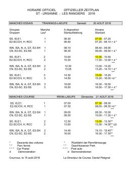 horaire officiel offizieller zeitplan st - ursanne