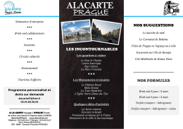 PRAGUE - ALACARTE Voyages