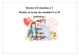 Dossier D évaluation 3ème N3 PDF