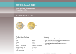 RONDA slimtech 1000 Caliber 1006 – 10½