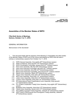 Assemblies of the Member States of WIPO