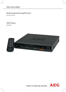 DVD 4550 HDMI DVD-Player Bedienungsanleitung/Garantie