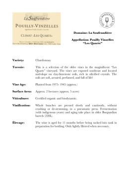 Domaine: La Soufrandière Appellation: Pouilly