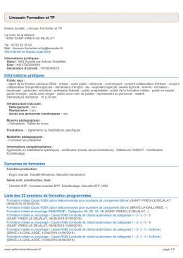 Exporter au format PDF - Se former en Limousin