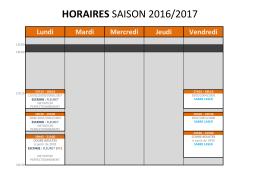 horaires saison 2016/2017 - Faîtes de l`escrime à Lyon!