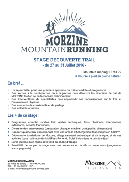 stage decouverte trail