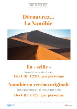 Découvrez... La Namibie
